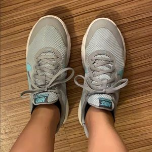 Nike teal and gray sneakers